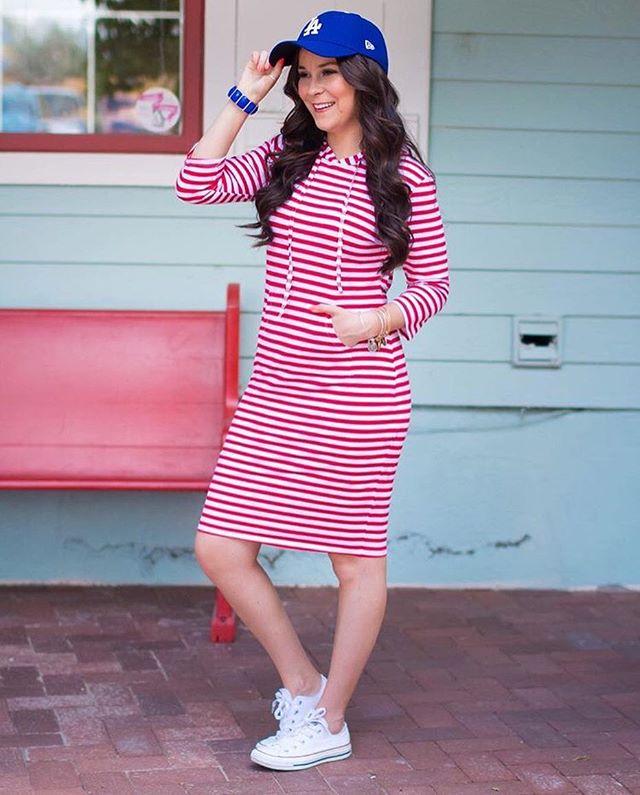 Keara Brady's modest 4th of July outfit