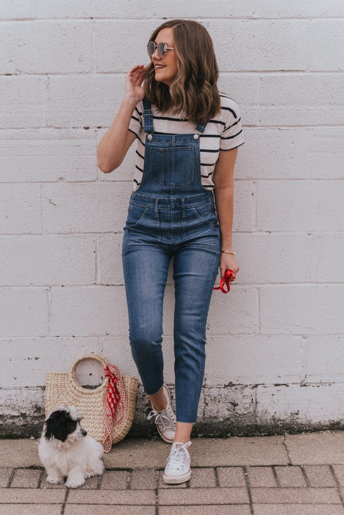 See how Heidi styled her overalls