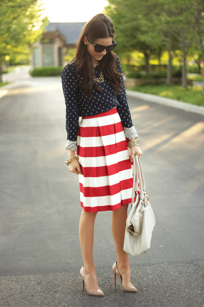 Rachel Parcell's fourth of July outfit.