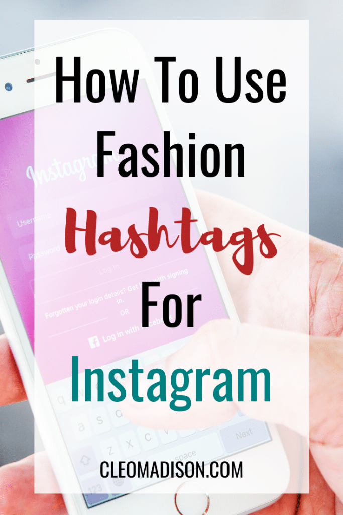 fashion hashtags for instagram