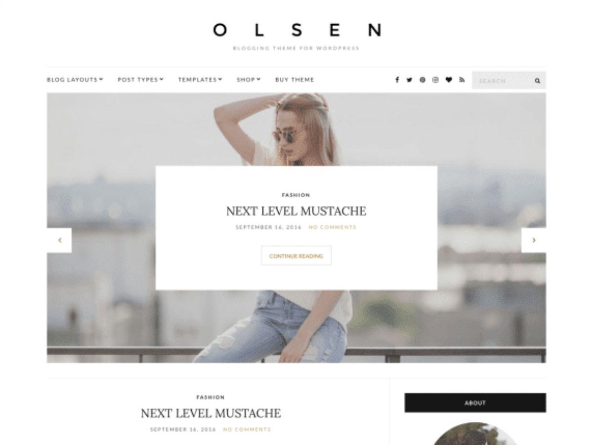 Olsen light free wordpress theme