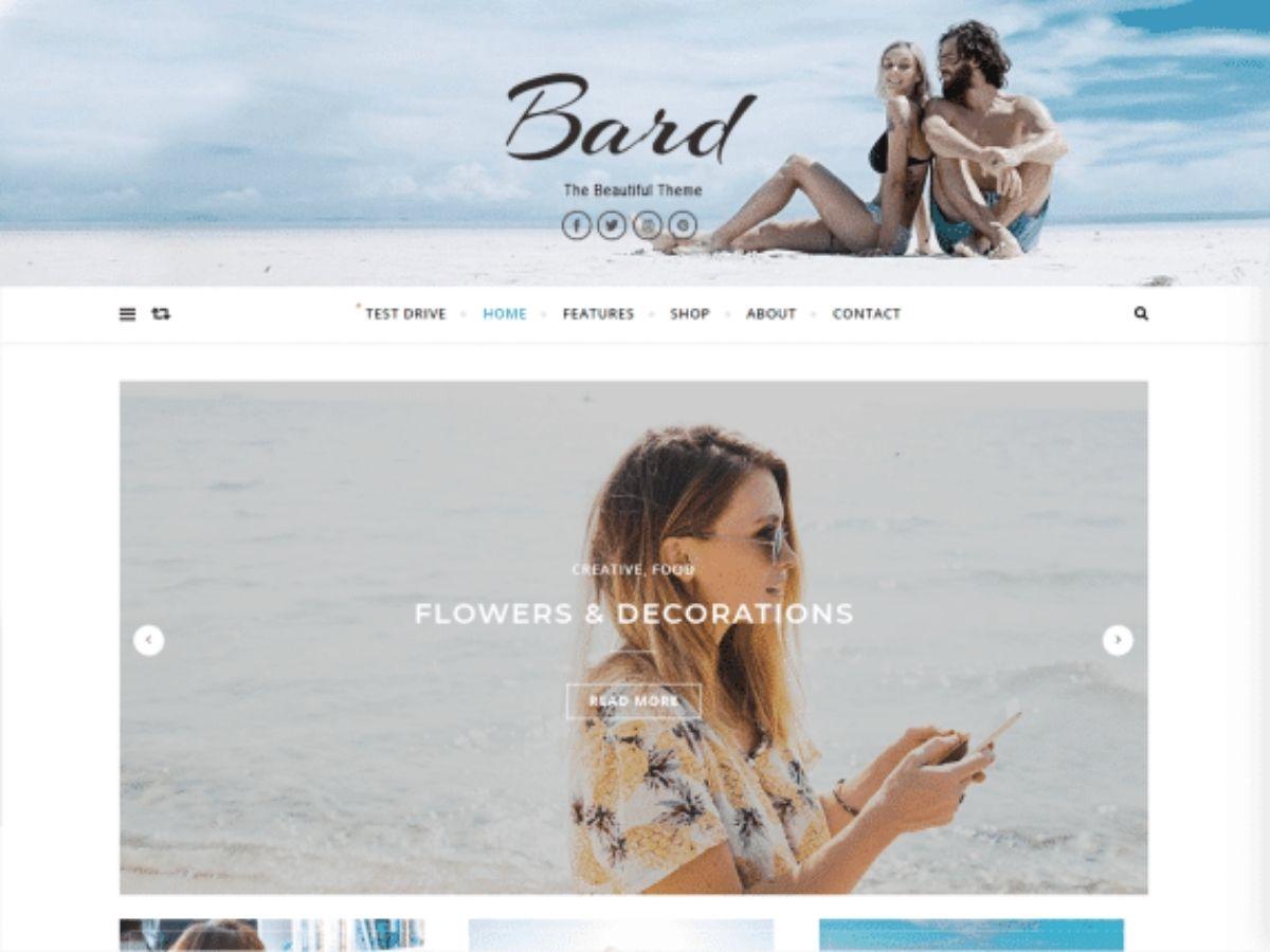 Bard is a free WordPress theme