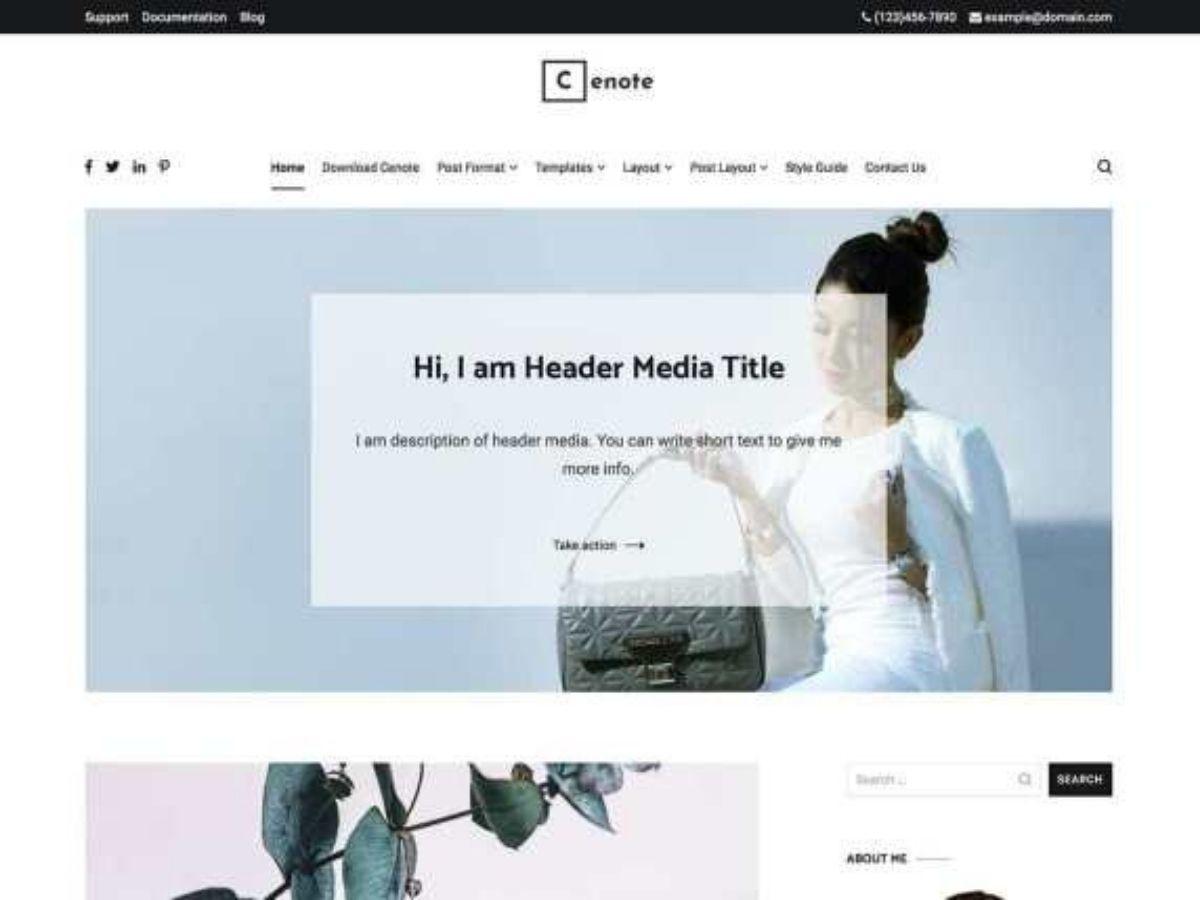 Cenote free WordPress theme