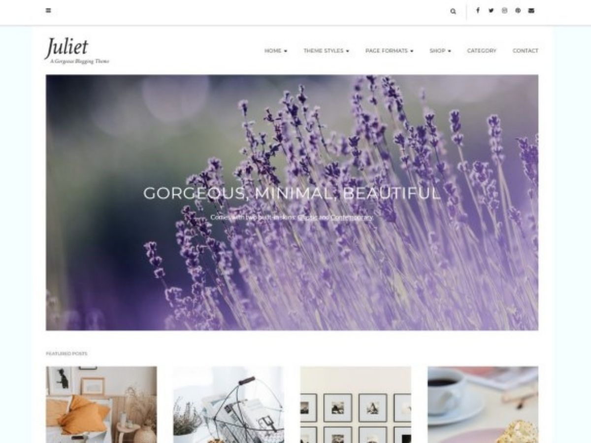 juliet free wordpress theme