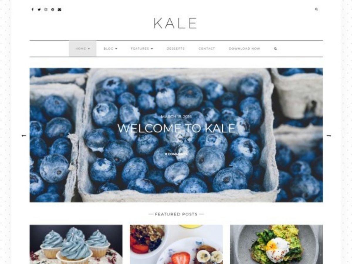 Kale free WordPress theme