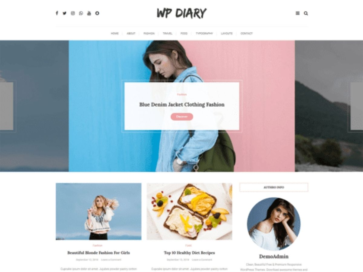 WP Diary free wordpress theme