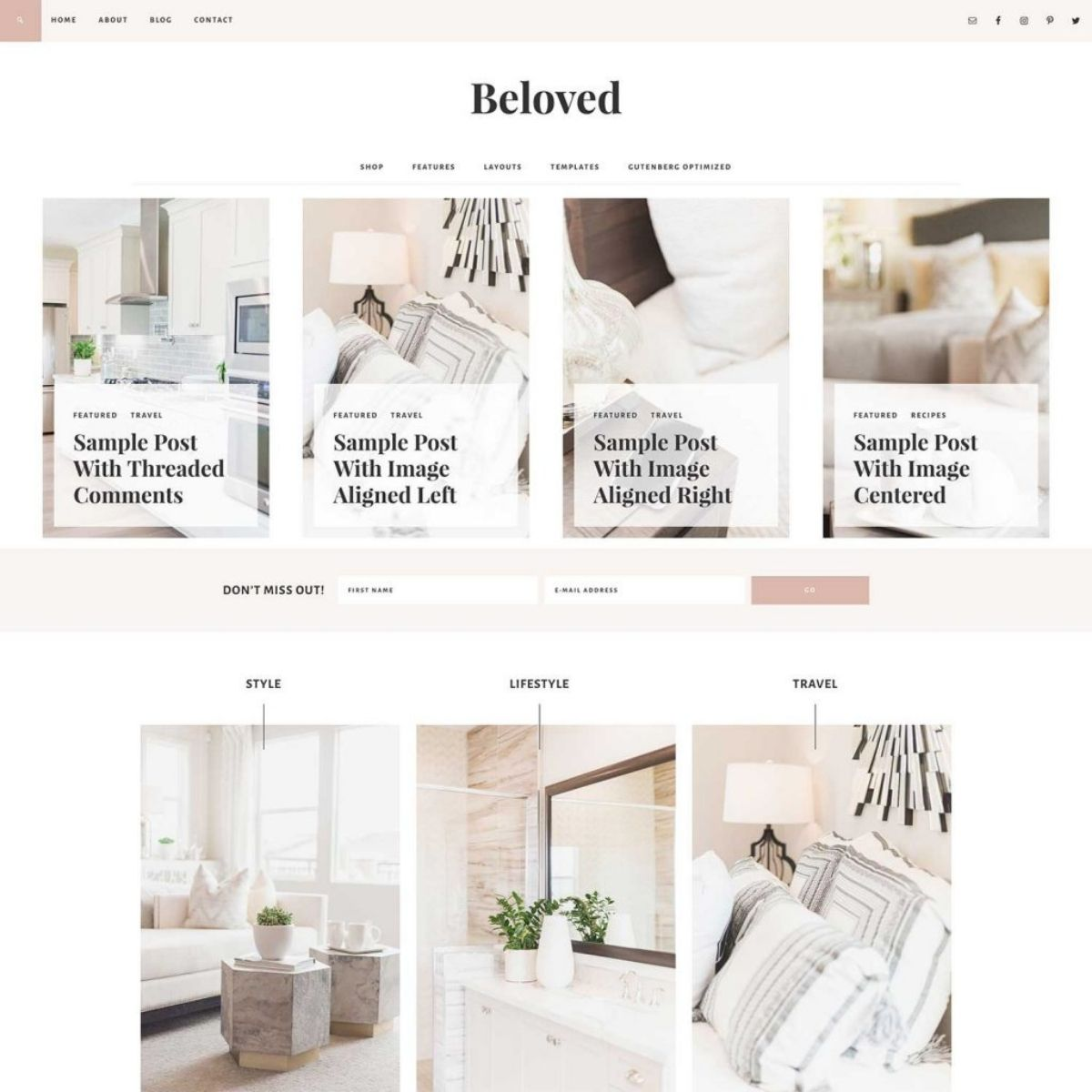 Beloved is one of Restored 316's premium wordpress themes