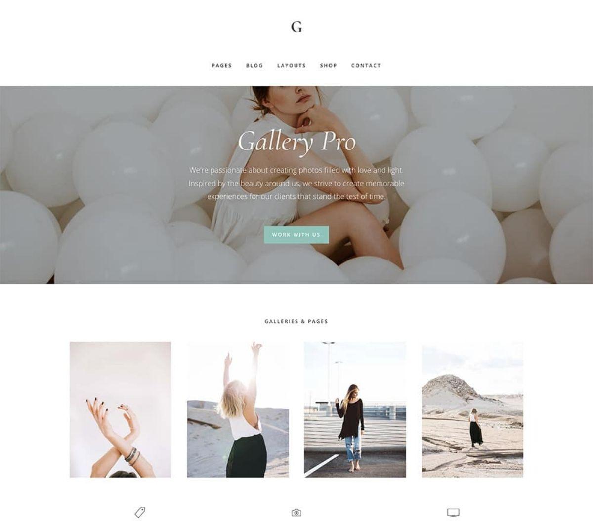 Gallery Pro premium wordpress theme