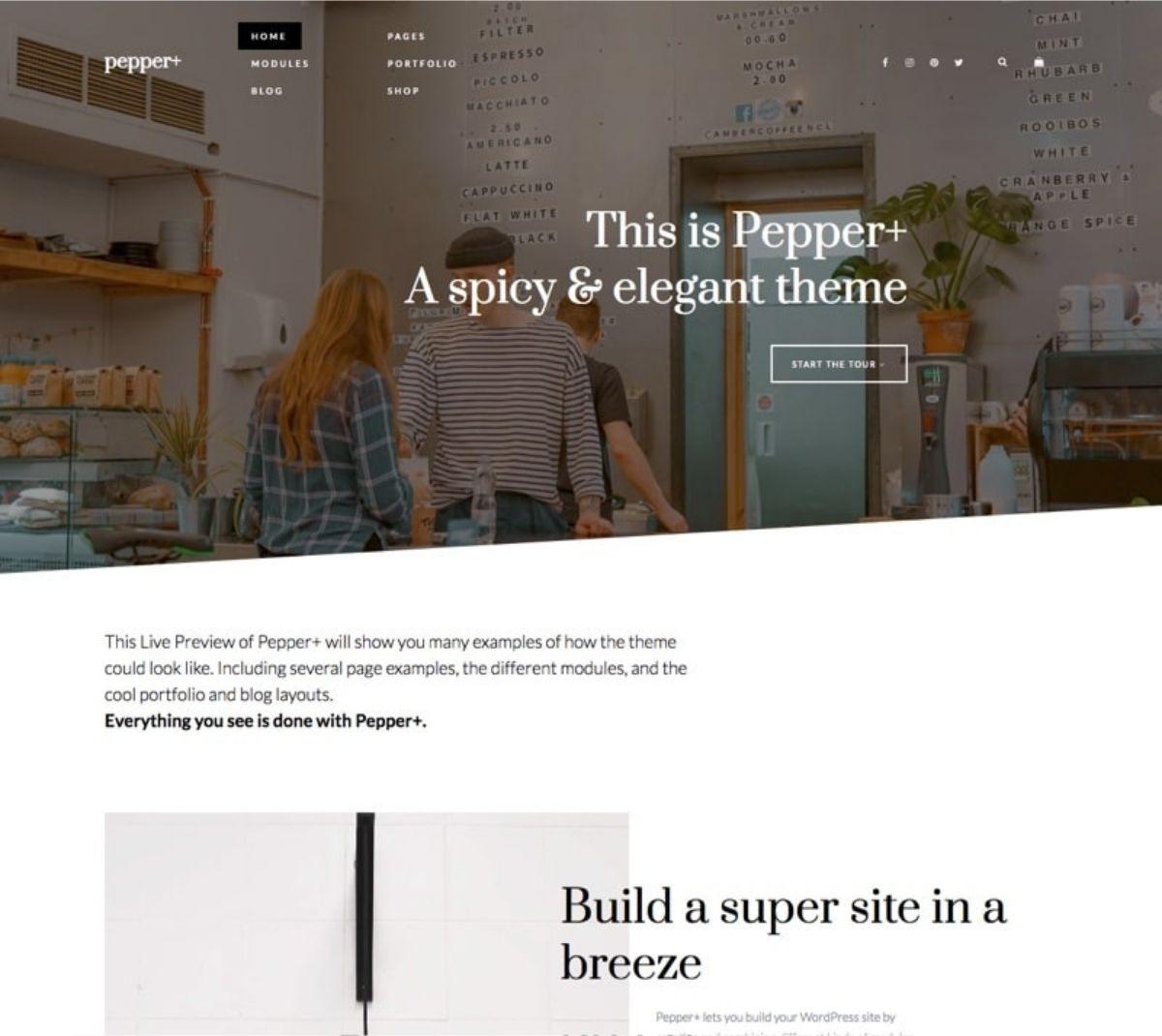 Pepper+ premium wordpress theme