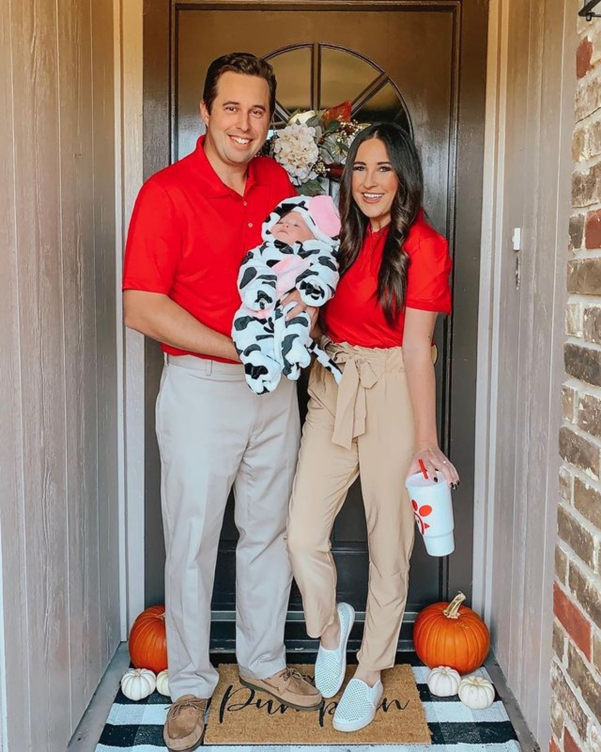 Chick Fil A family costumes