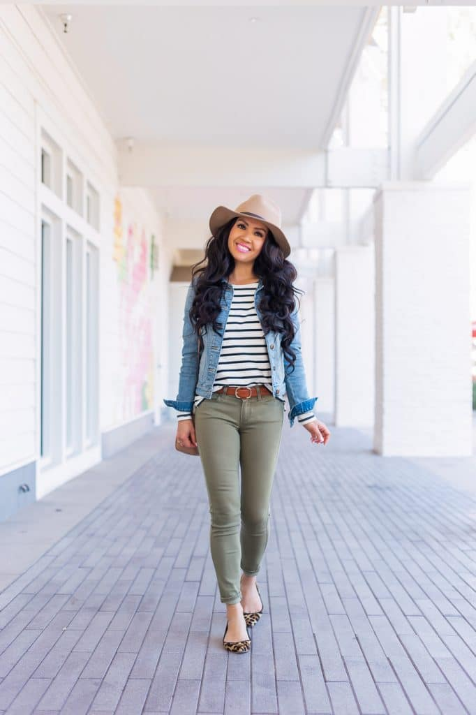Annie Mai Thai from StylishPetite.com shows you how to put together an outfit with a jean jacket.