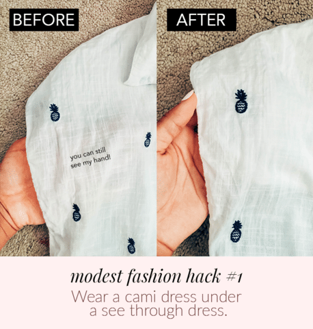 How to turn a sheer dress into a modest dress