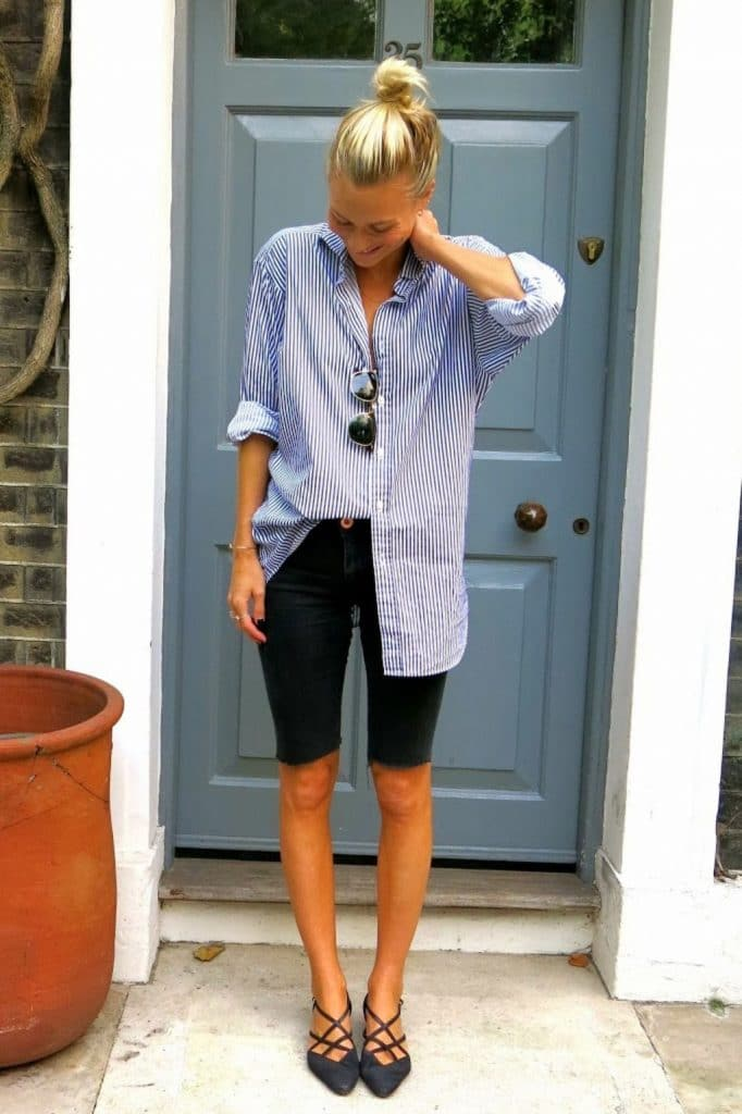 How to style black bermuda shorts