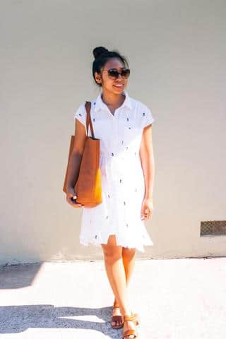 Styling a sheer dress with a cami under it