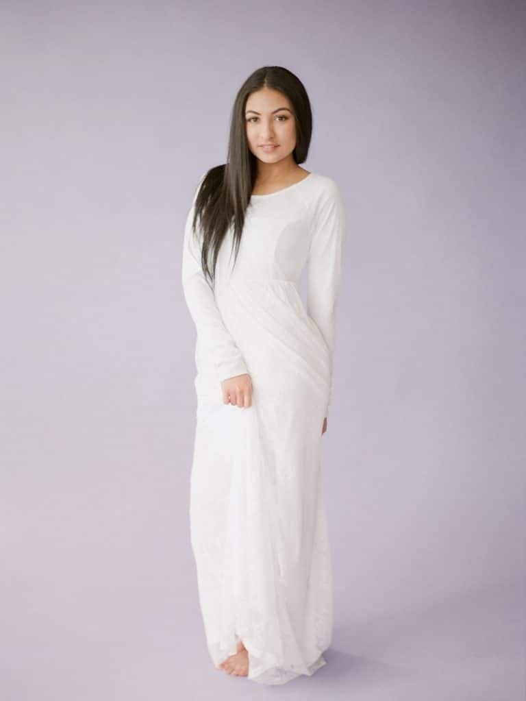 LDS temple dresses from QNoor
