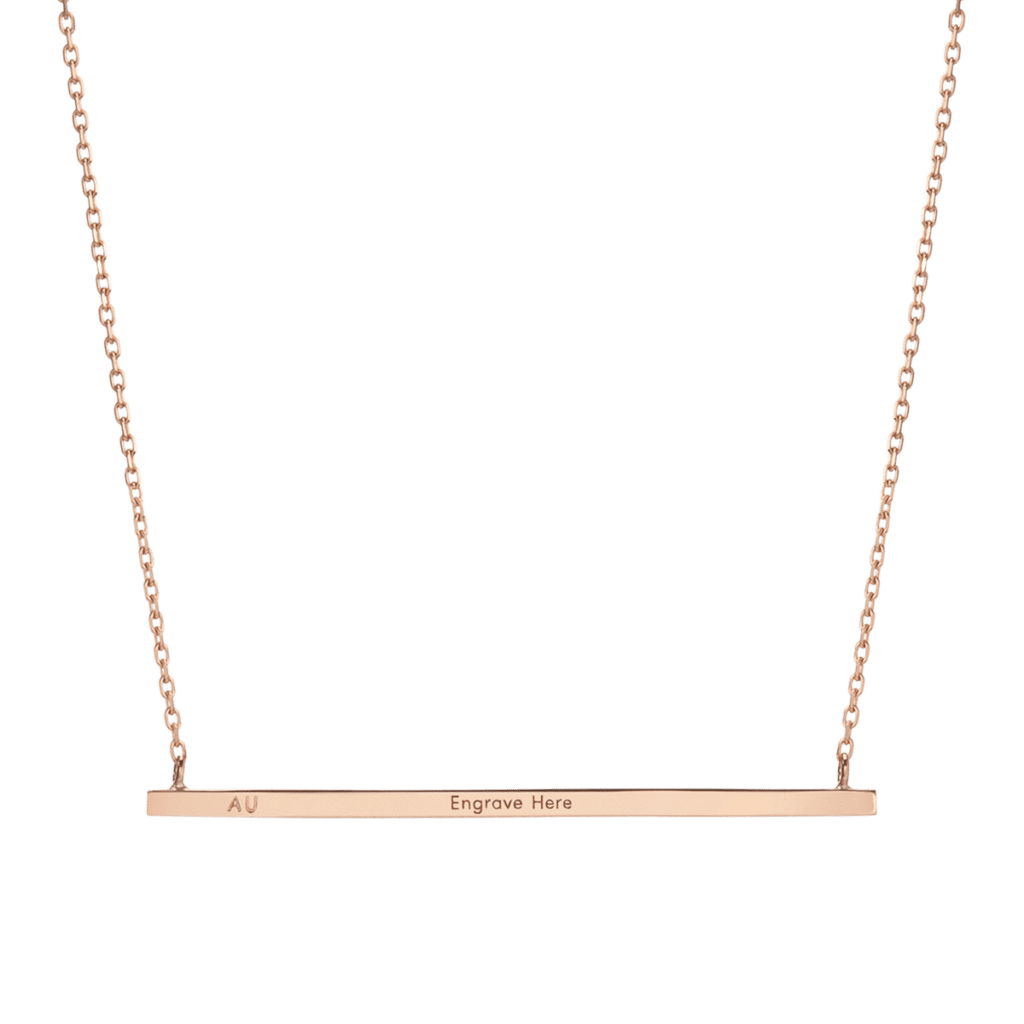 This gold engravable bar necklace is one of the stocking stuffers for fashion lovers.