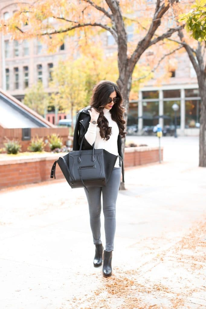 See how Emily Gemma styled her black booties