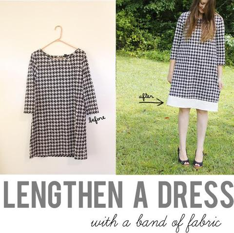 Tip for increasing the length of a dress