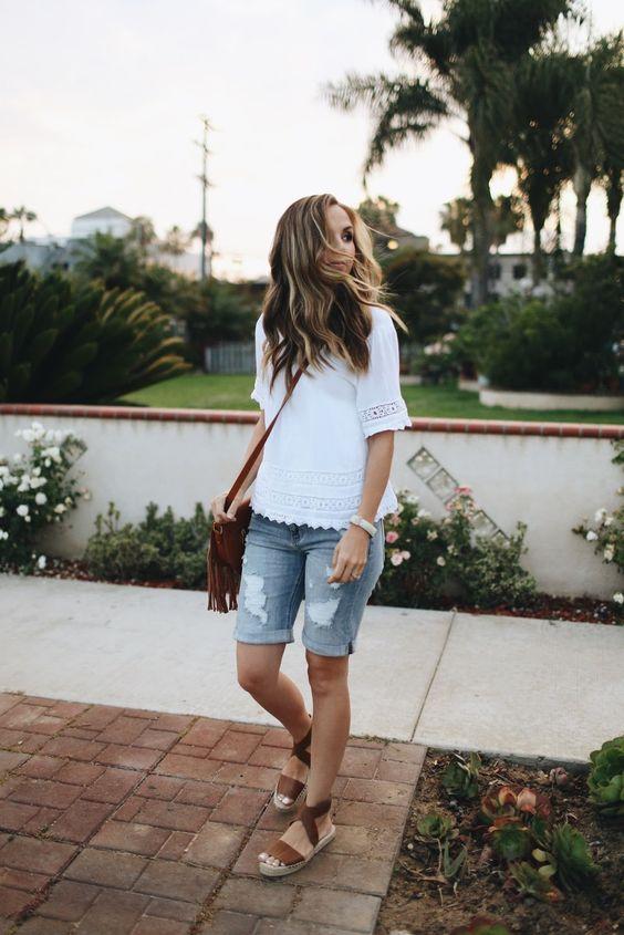 Merrick's Art summer jean shorts outfit