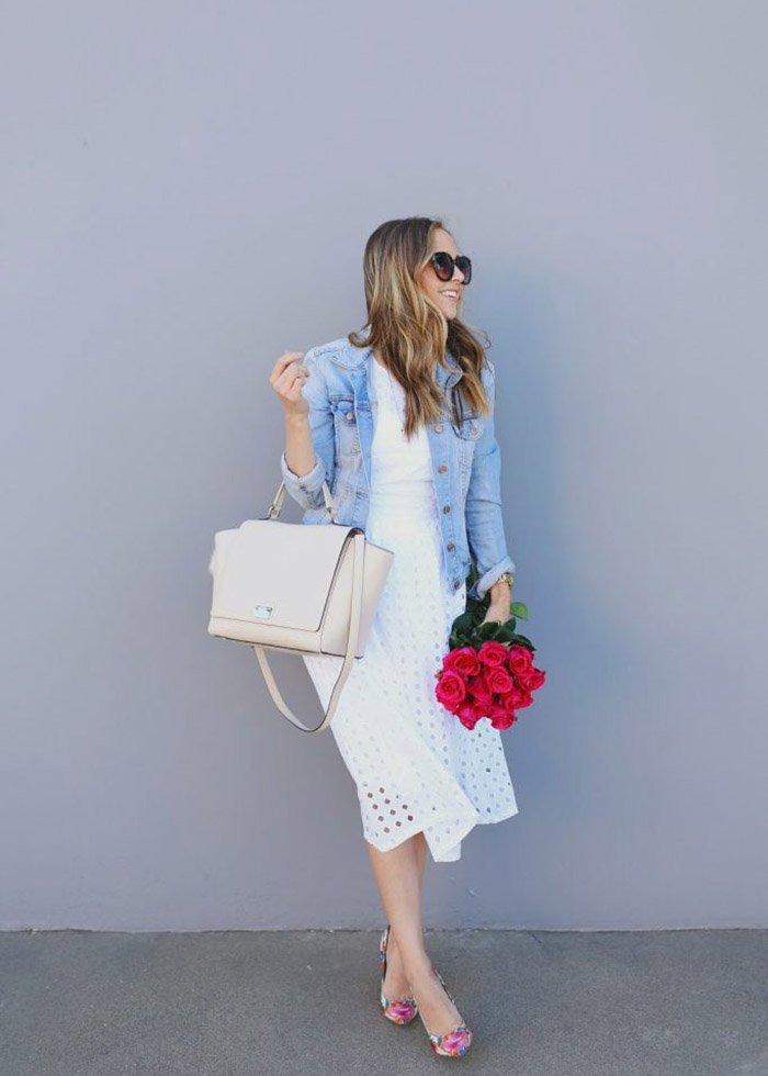 See how Merrick styles her jean jacket