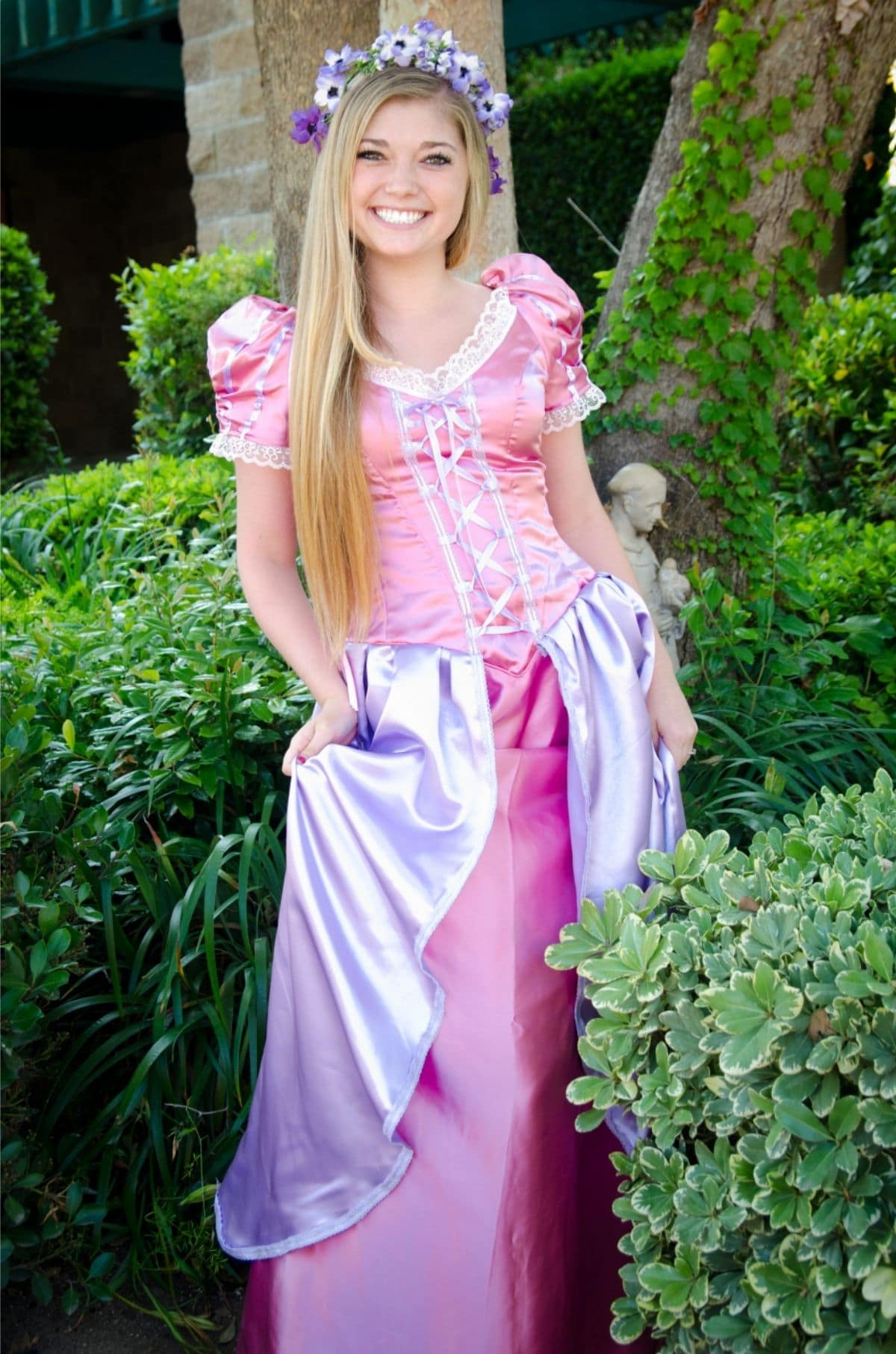 modest Rapunzel costume