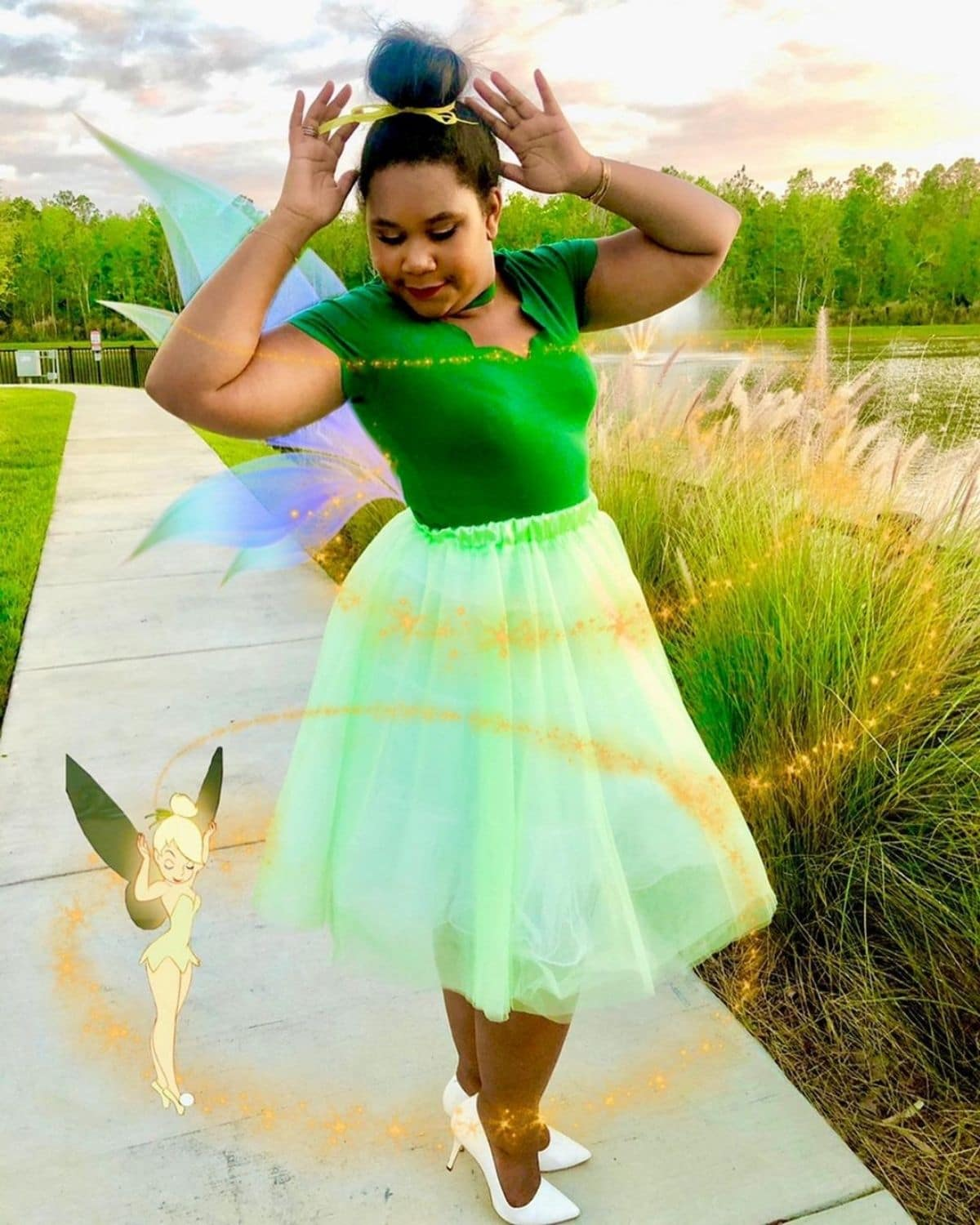 modest Tinkerbell costume