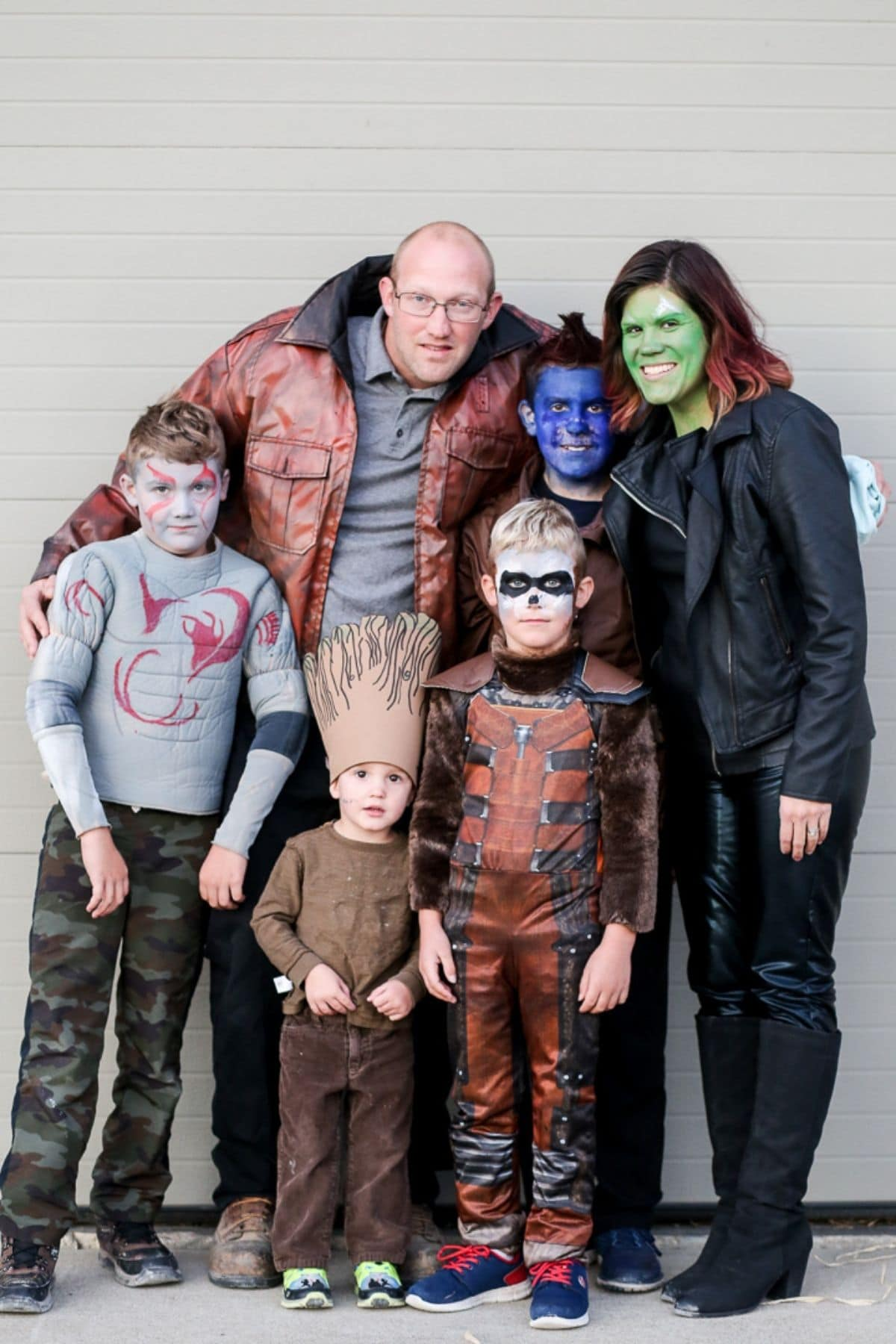 family dressed up as characters from Guardians of the Galaxy