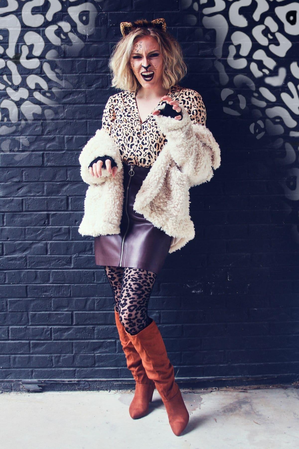 modest leopard costume