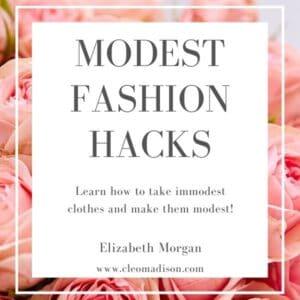 free ebook called modest fashion hacks