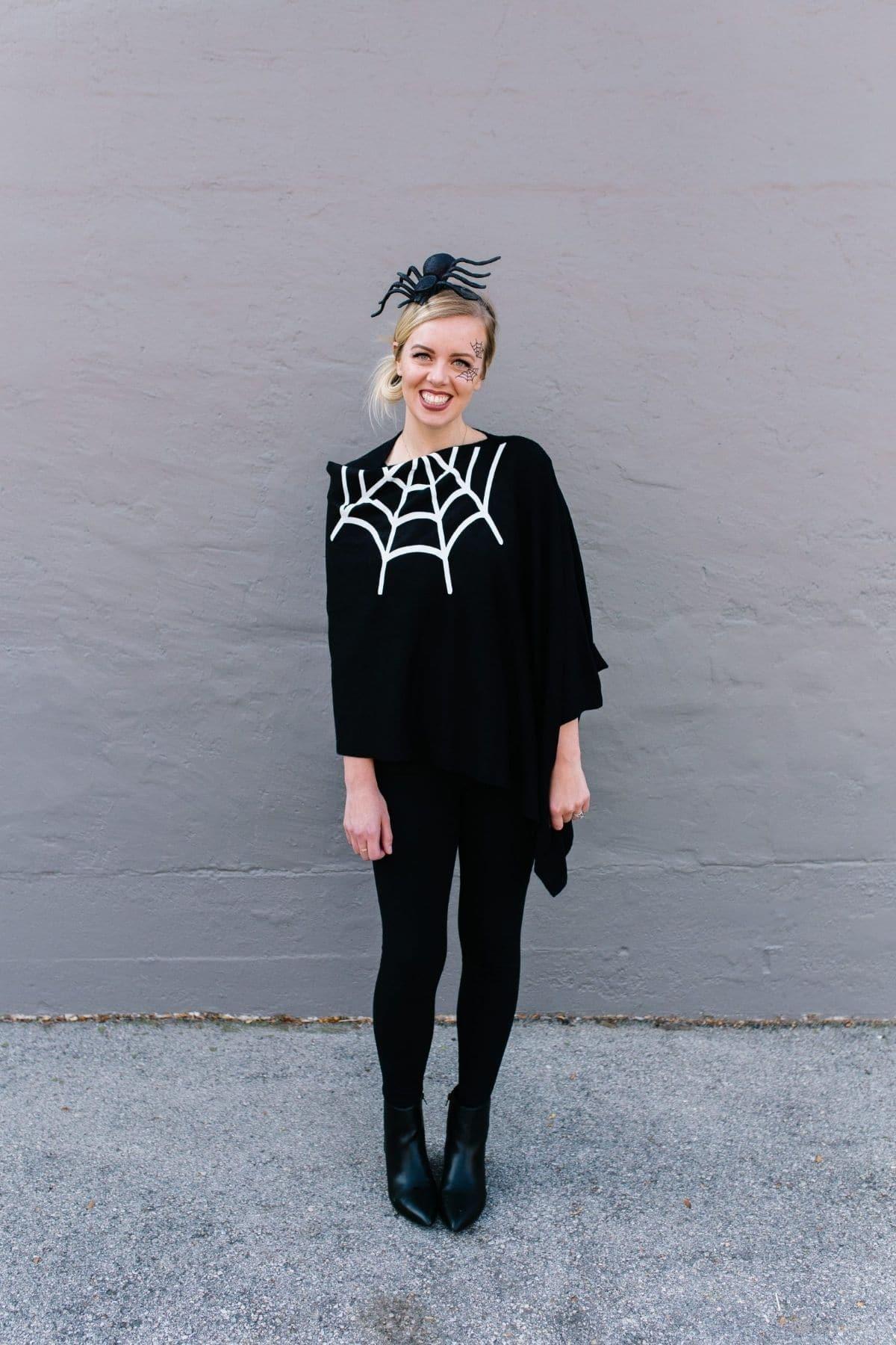 modest spider costume