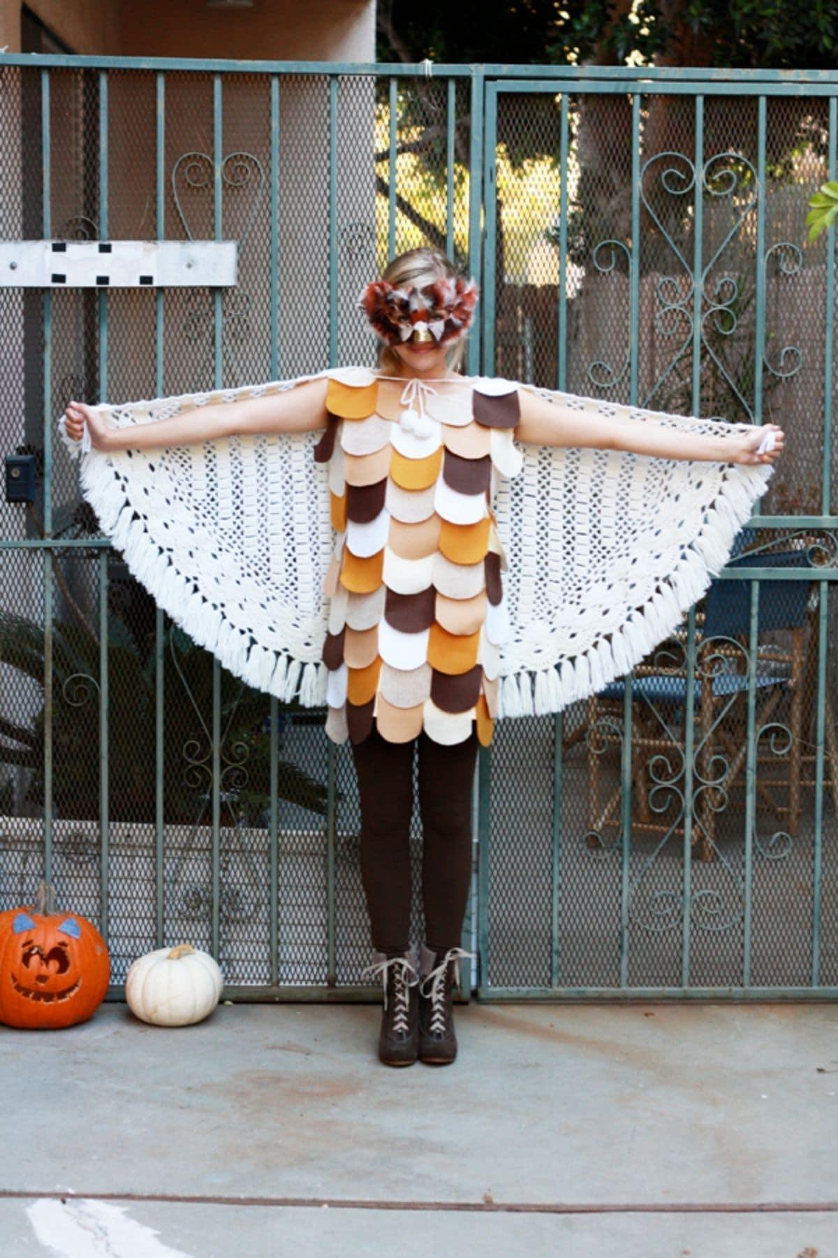 modest owl costume