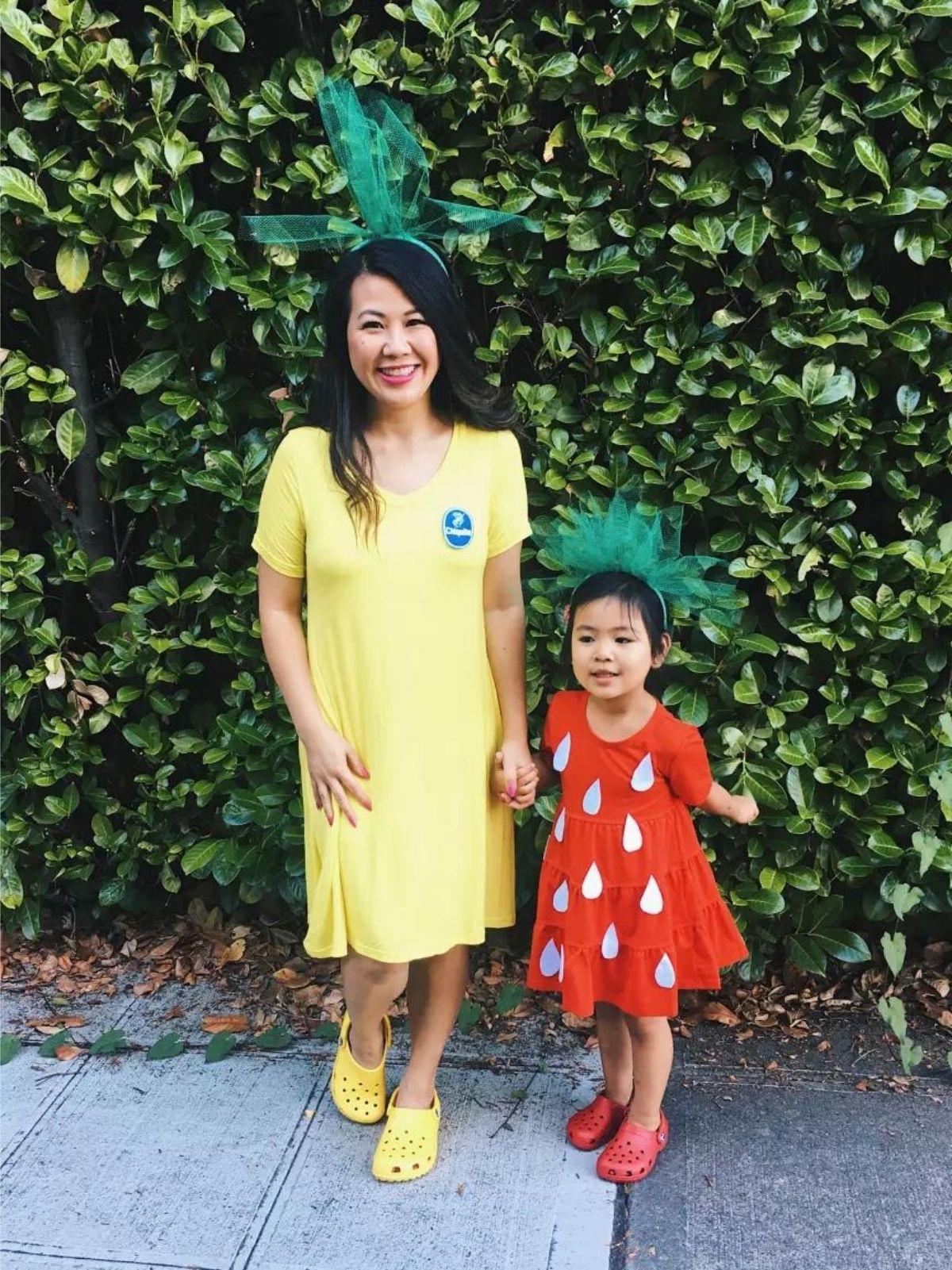 Banana and Strawberry costumes