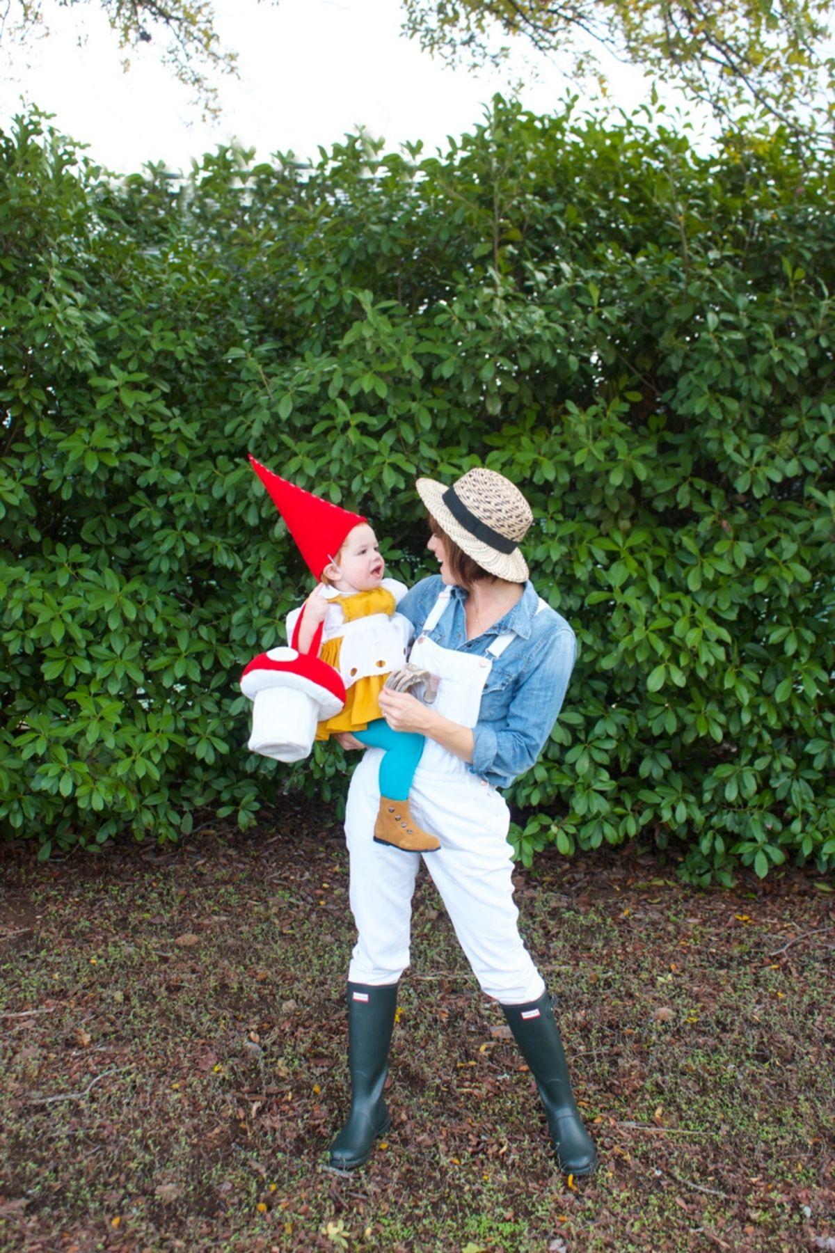 Gardener and Gnome costumes