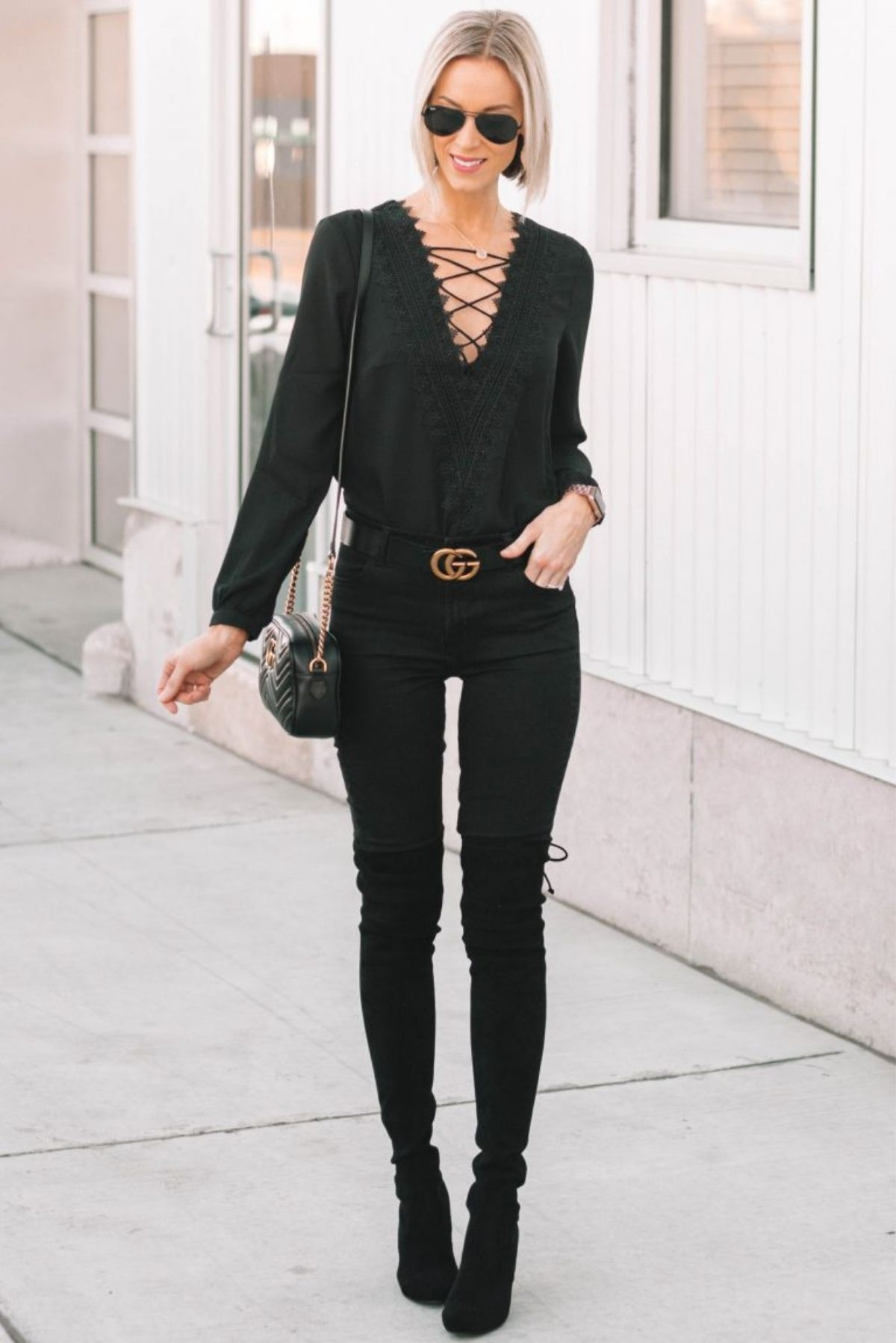 style black jeans by wearing all black