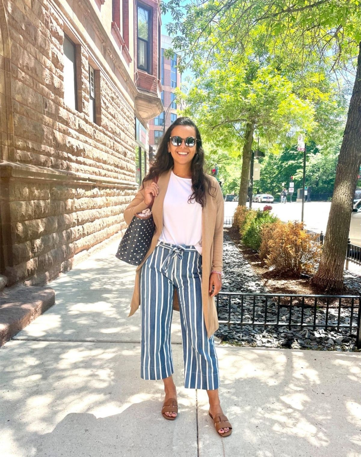 styling cardigan with cropped pants
