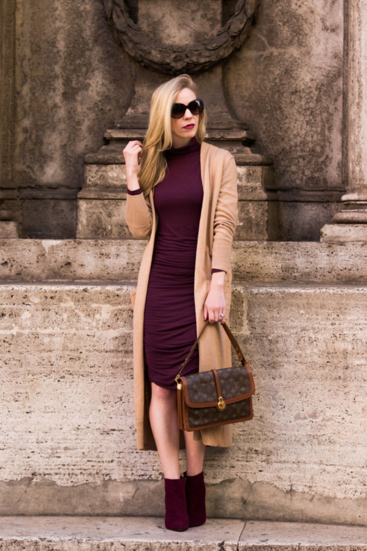 styling cardigan with a dress